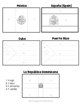 country flag coloring pages spanish speaking color by number country flags by world pages flag coloring country