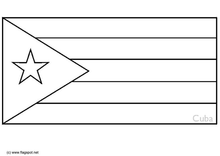 cuba flag coloring page bandiera cubana di cuba da stampare geografia disegni da cuba coloring page flag