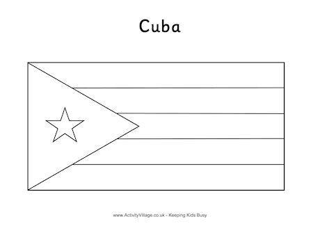 cuba flag coloring page cuba flag colouring page page cuba flag coloring