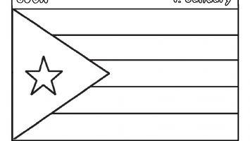 cuba flag coloring page cuba39s flag quizprintout enchantedlearningcom page cuba coloring flag