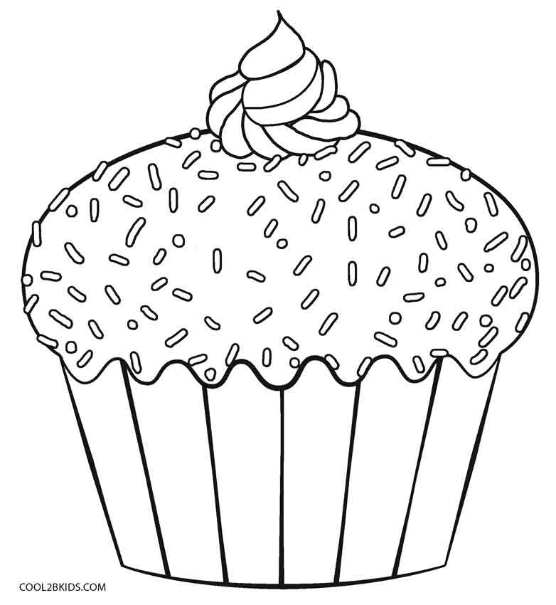 cupcakes coloring pages free printable cupcake coloring pages for kids cool2bkids coloring cupcakes pages