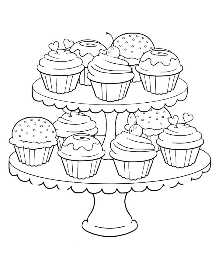 cupcakes coloring pages get the coloring page cupcakes free printable adult pages coloring cupcakes