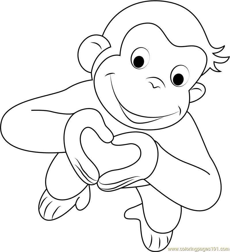 curious george coloring free kids coloring curious george eating a banana coloring curious george