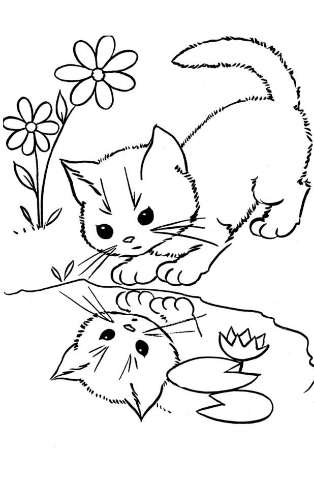 cute cat colouring pages cute kitten coloring pages getcoloringpagescom cute colouring cat pages
