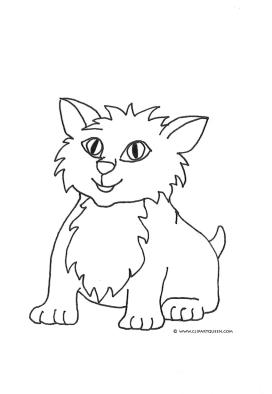 cute cat colouring pages cute kitten coloring pages hellokidscom cute cat colouring pages