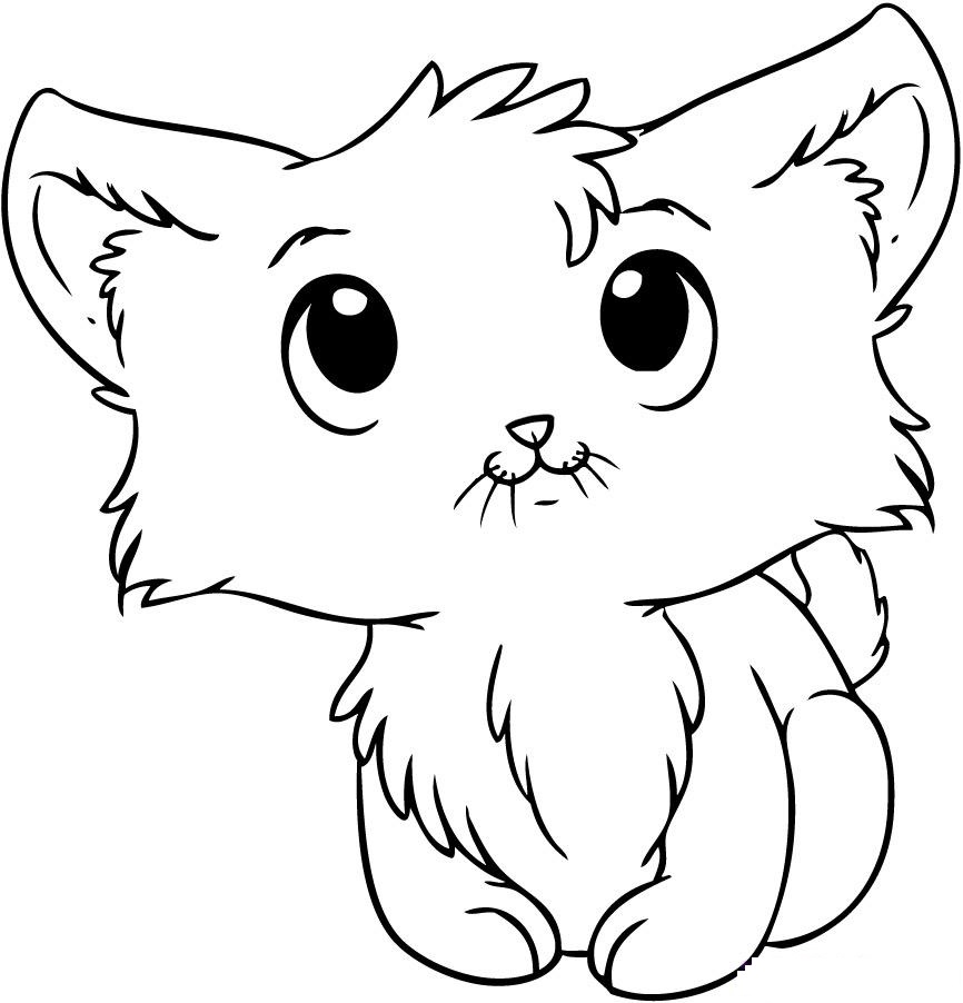 cute cat colouring pages free printable cat coloring pages for kids pages cute colouring cat