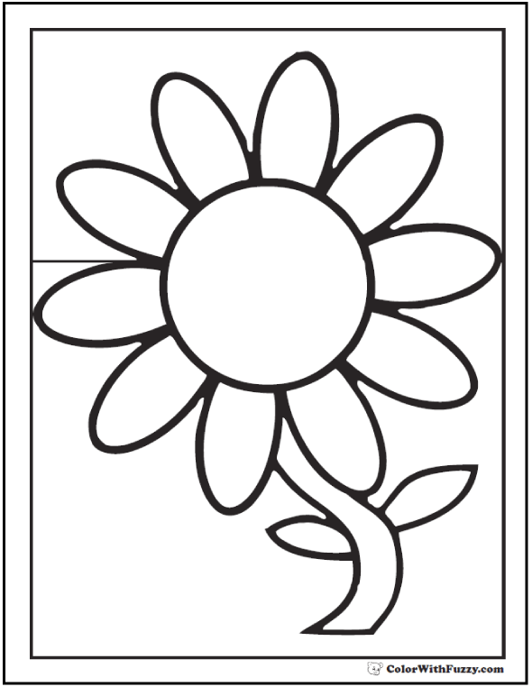 daisy flower colouring pages daisy coloring pages 15 customizable pdfs flower colouring pages daisy