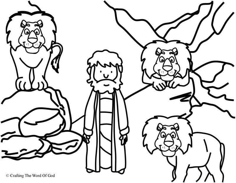 daniel coloring pages daniel in the lions den coloring page crafting the word coloring daniel pages