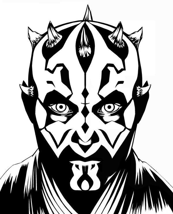 darth maul coloring pages darth maul inks by brentjs on deviantart coloring maul darth pages