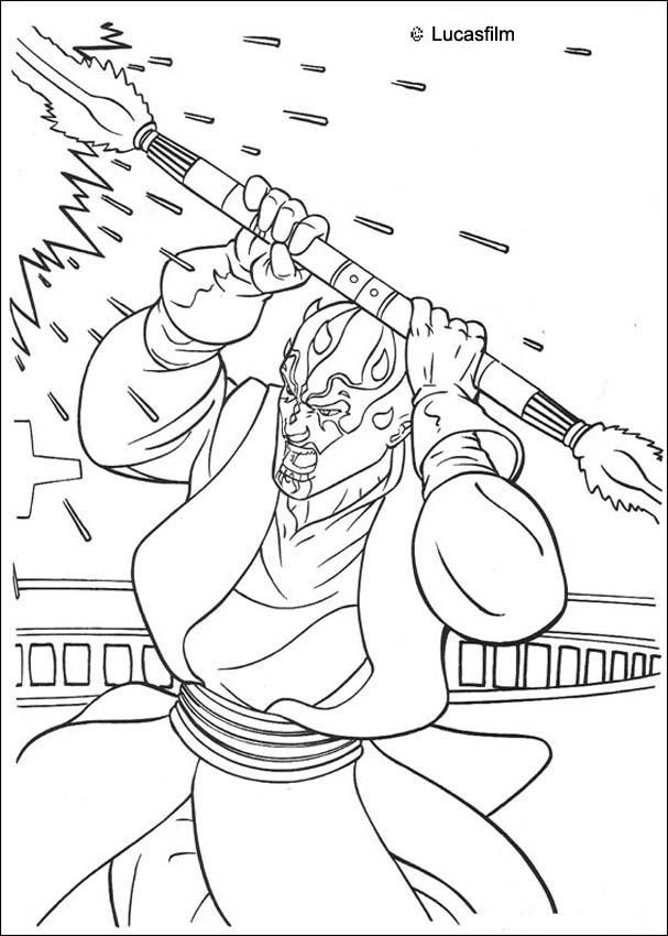 darth maul coloring pages darth maul with a laser sword coloring pages hellokidscom darth maul pages coloring