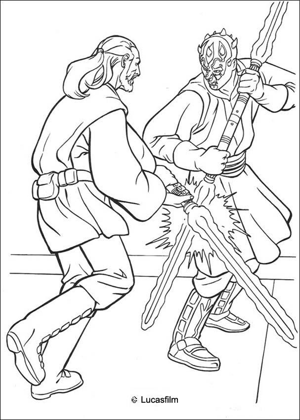 darth maul coloring pages jedi knight qui gon jinn fighting a duel with darth maul darth coloring maul pages