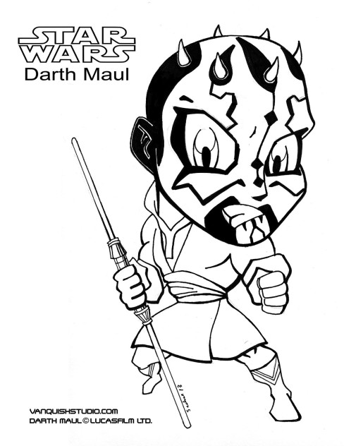 darth maul coloring pages star wars coloring pages vanquish studio darth pages coloring maul