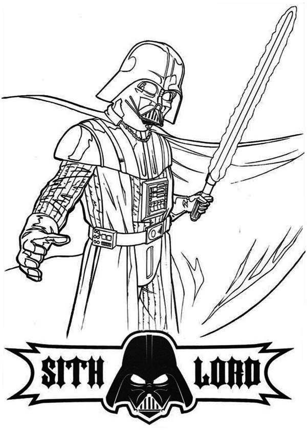 darth vader colouring darth vader and laser sword coloring pages hellokidscom darth vader colouring