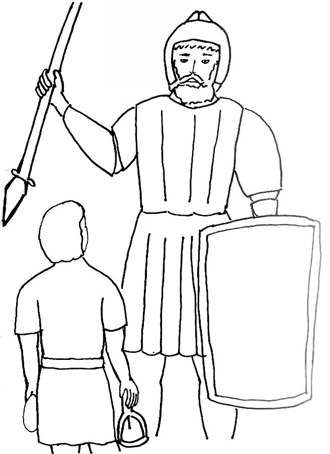 david and goliath coloring page bible story coloring page for david and goliath free david goliath coloring and page