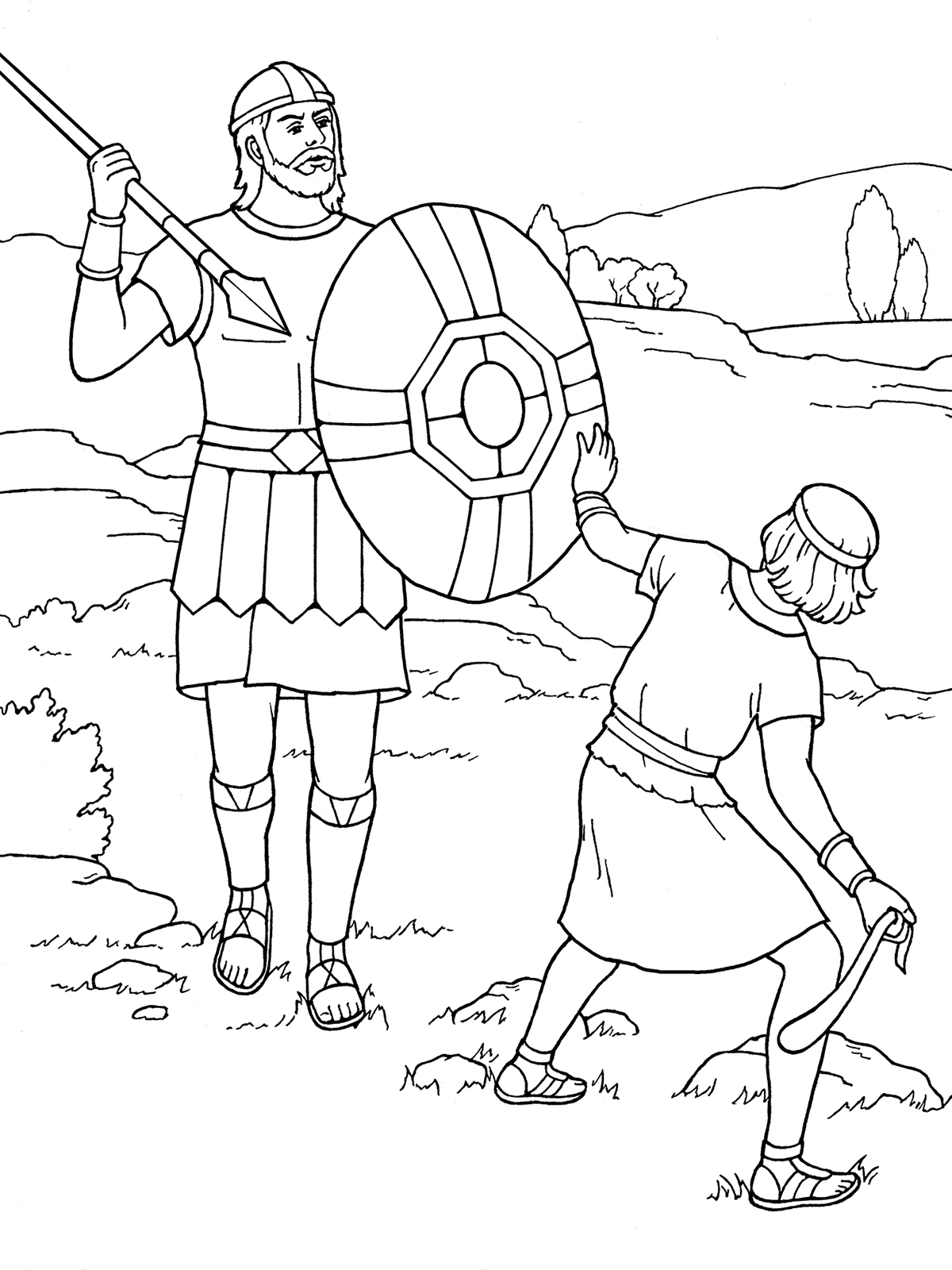 david and goliath coloring page bible story coloring pages rocky mount preschool kids church coloring goliath and david page