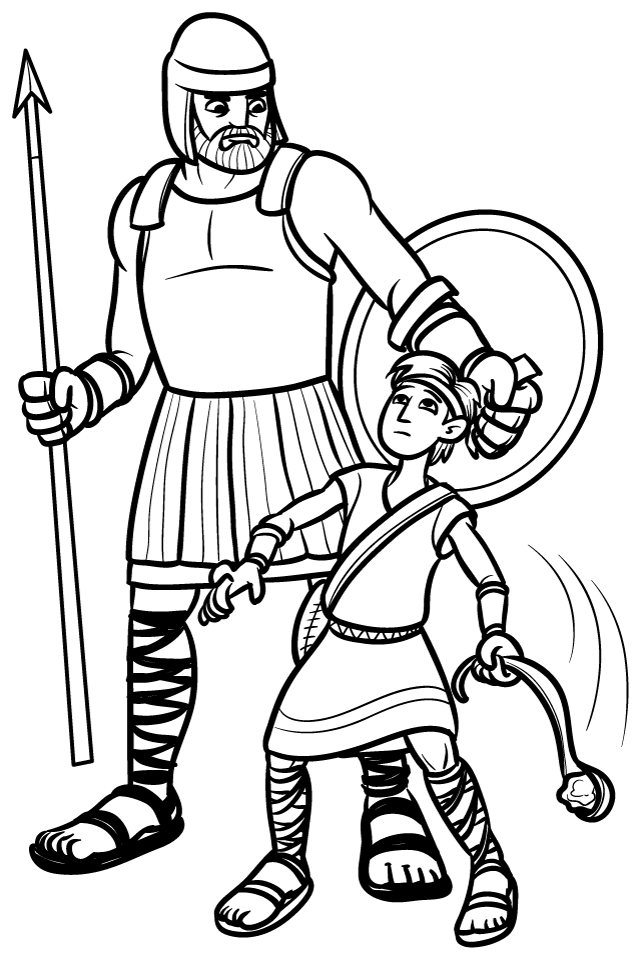 david and goliath coloring page creative mode gateway39s kids ministry david and coloring page goliath