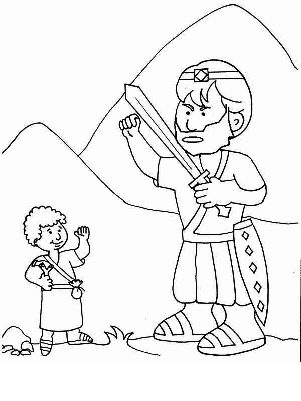 david and goliath coloring page david and goliath coloring pages printables sketch and goliath page david coloring