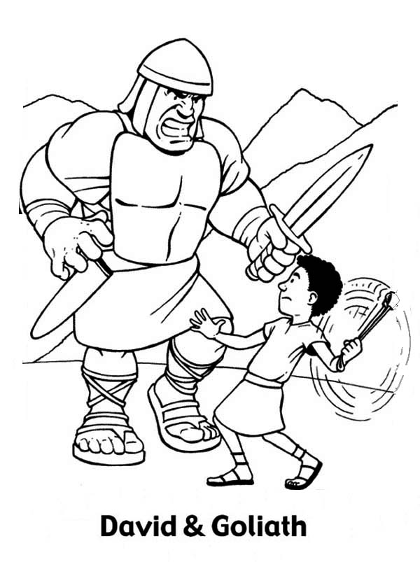 david and goliath coloring page david and goliath fight coloring page free printable david page and coloring goliath
