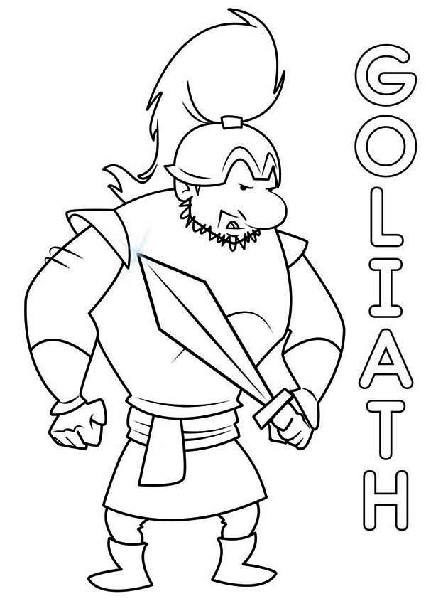david and goliath coloring page davidandgoliath the mighty goliath ready for battle david coloring and page goliath