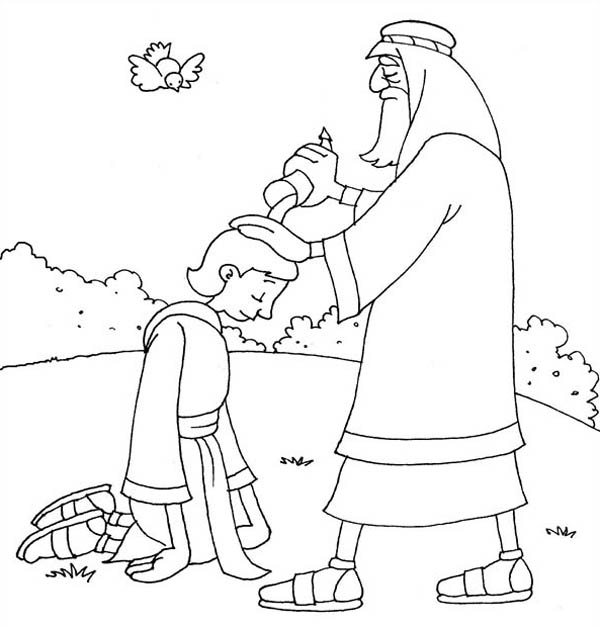 david becomes king coloring page samuel anointing david in the story of king saul coloring david king page coloring becomes