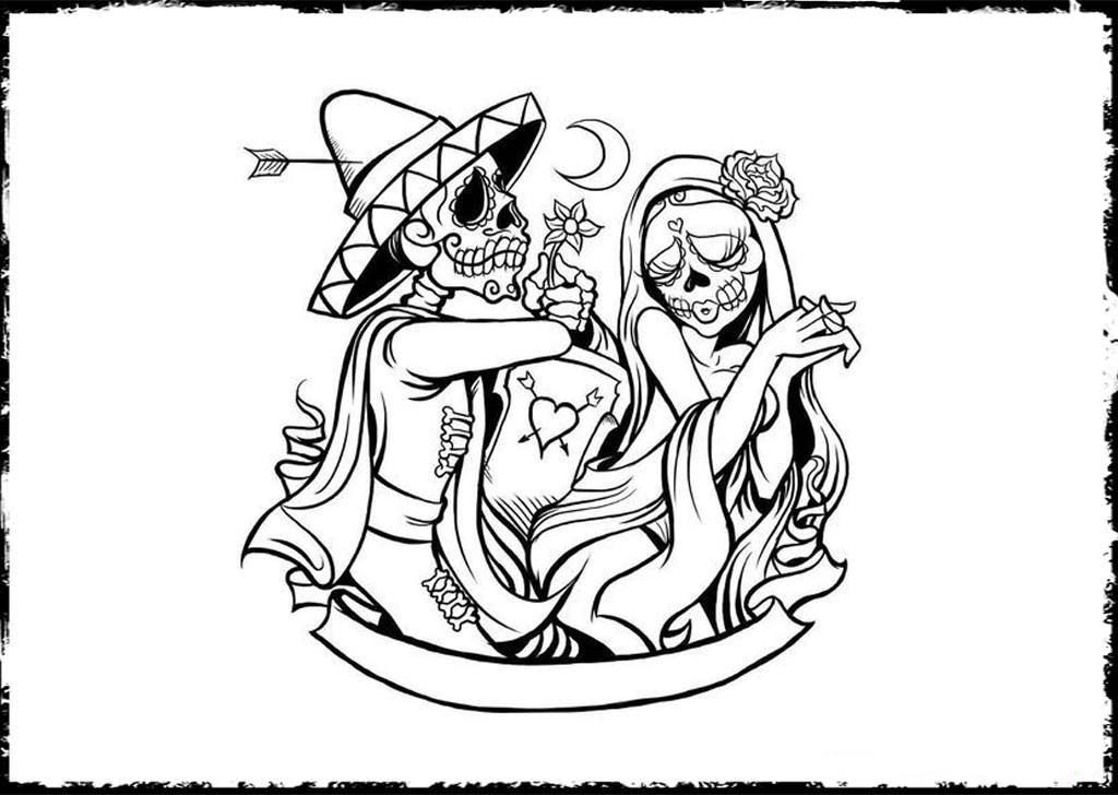 day of the dead pictures to color free printable day of the dead coloring pages best color pictures the day of dead to