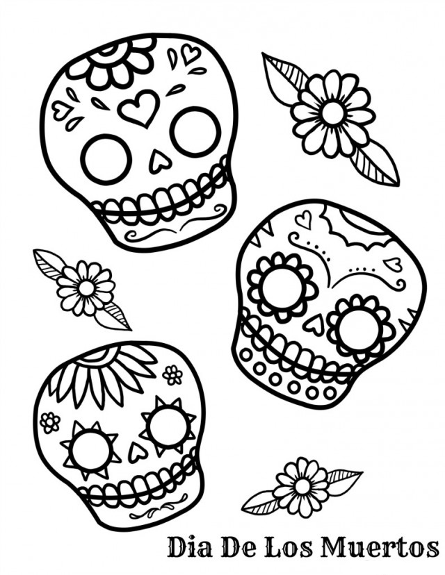 day of the dead pictures to color free printable day of the dead coloring pages best day pictures dead of the to color