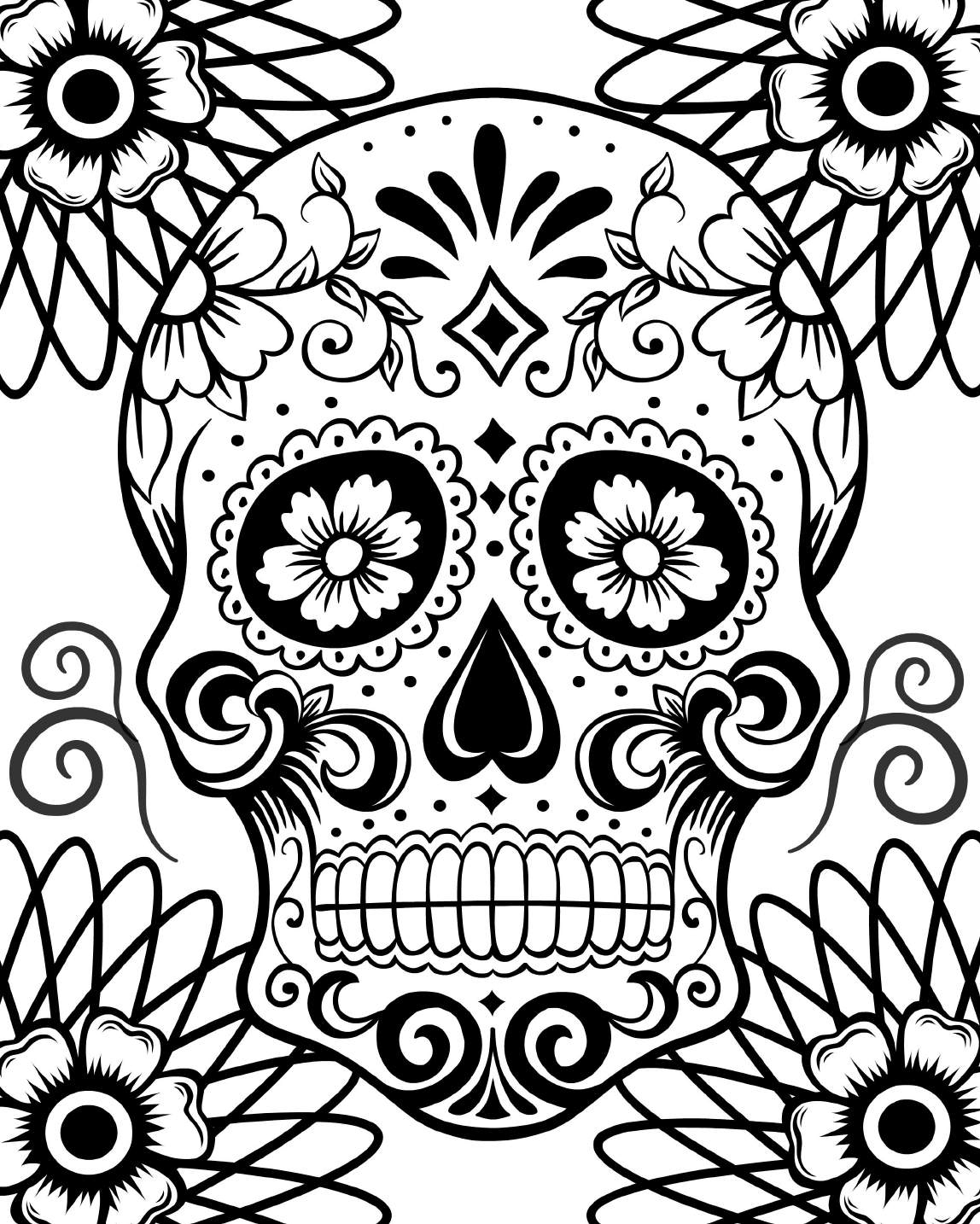 day of the dead pictures to color free printable day of the dead coloring pages best of color day the dead to pictures