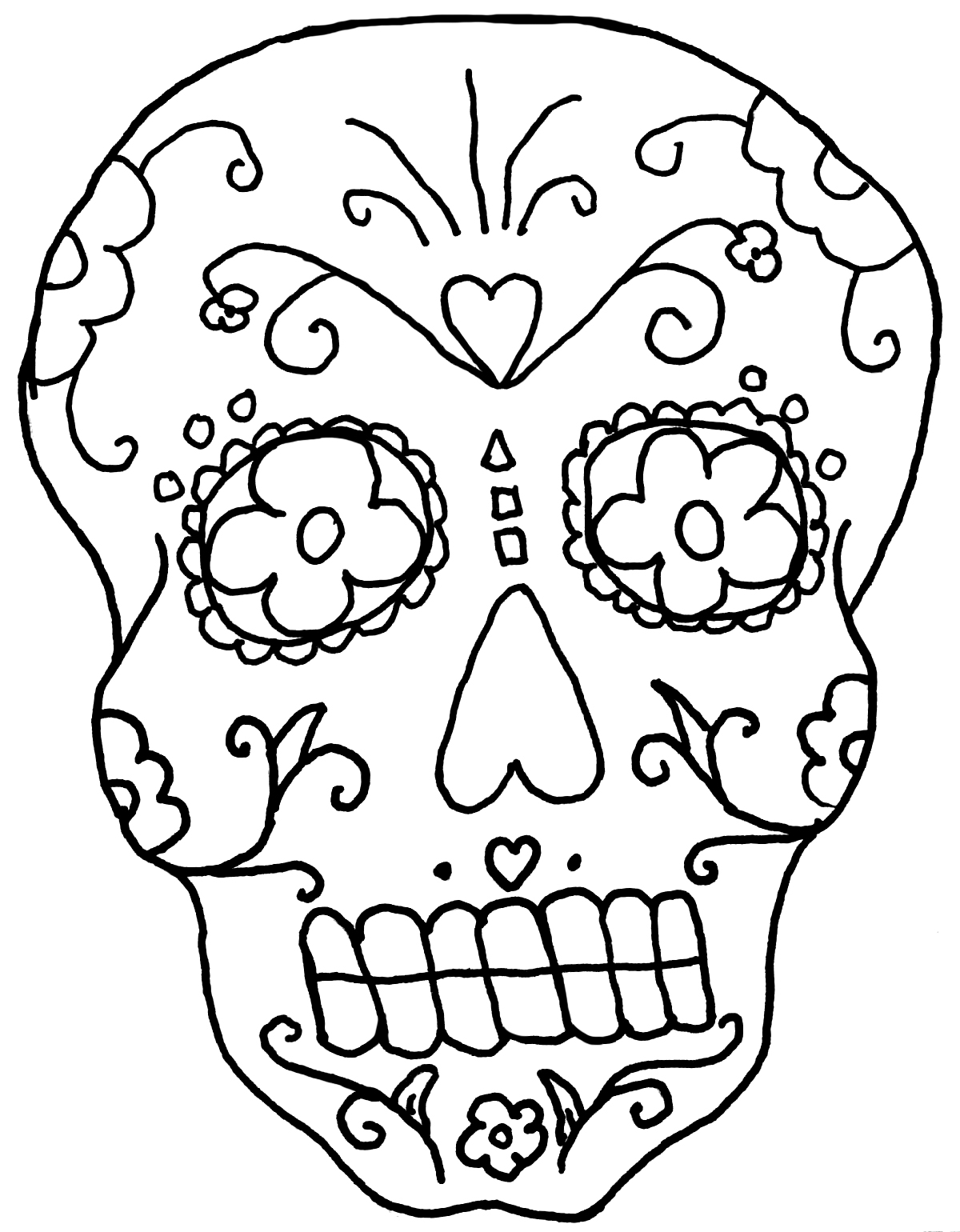 day of the dead pictures to color free printable day of the dead coloring pages best to pictures the color dead of day