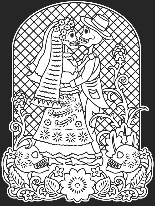 day of the dead printable coloring pages coloring pages cindy39s notebook dead the day pages coloring of printable