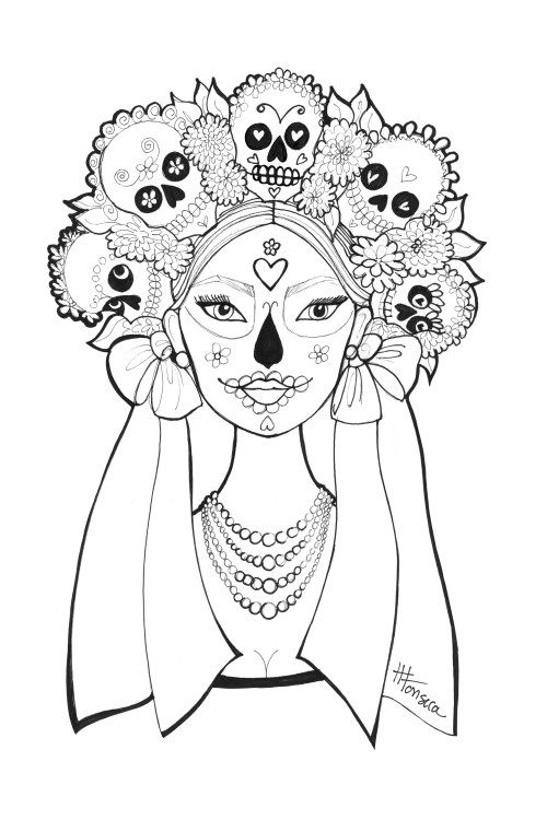 day of the dead printable coloring pages day of the dead coloring pages by heather fonseca of printable day dead coloring pages the