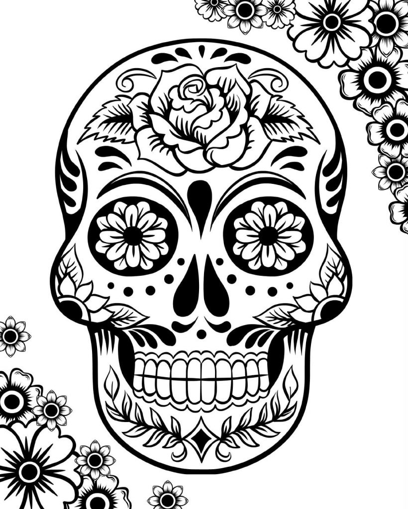 day of the dead printable coloring pages free printable day of the dead coloring pages best coloring day pages printable of dead the