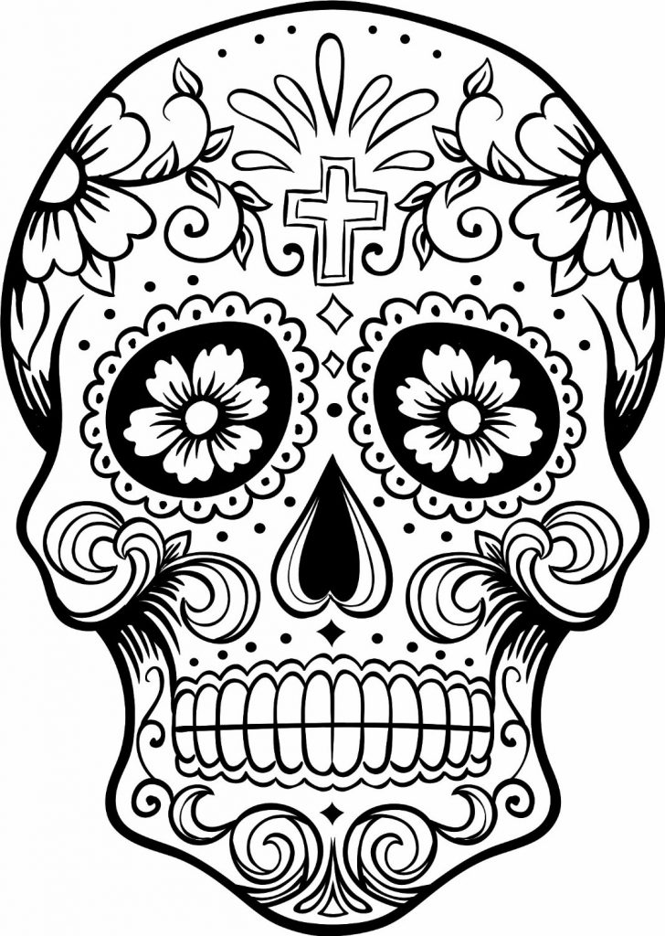 day of the dead printable coloring pages free printable day of the dead coloring pages best day coloring dead pages of printable the