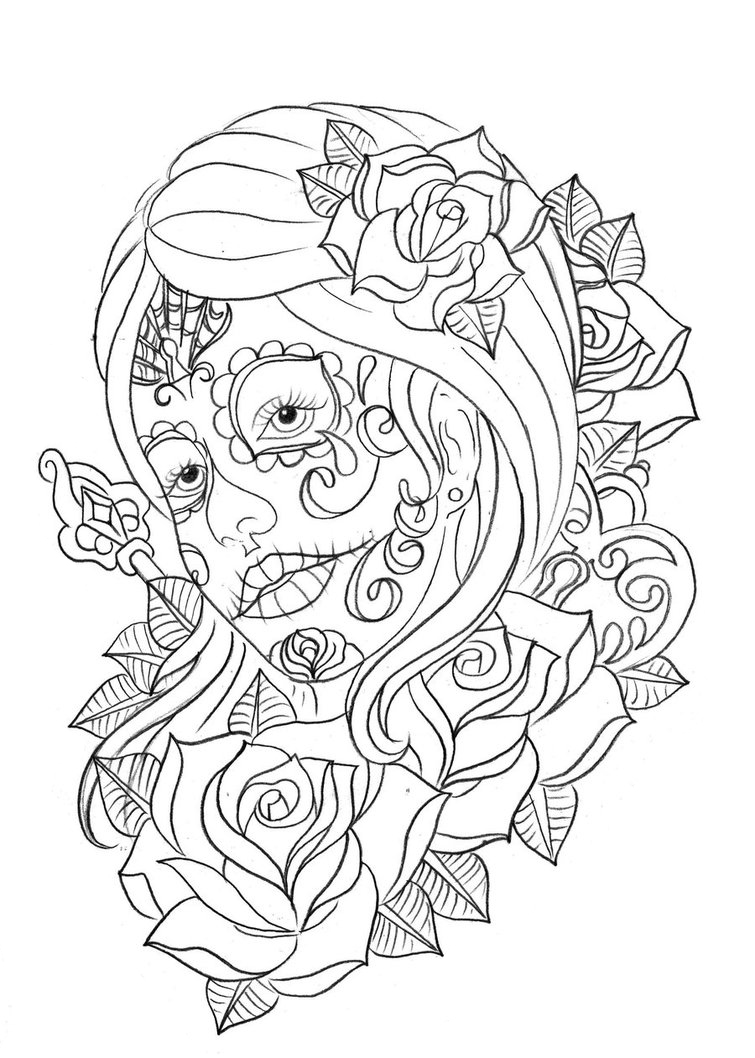 day of the dead printable coloring pages free printable day of the dead coloring pages best dead printable coloring the of day pages