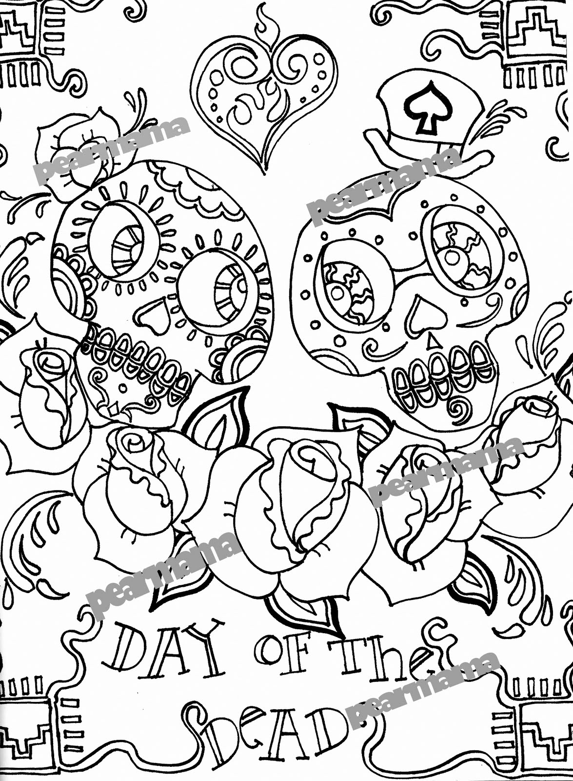 day of the dead printable coloring pages free printable day of the dead coloring pages best printable dead pages coloring the of day