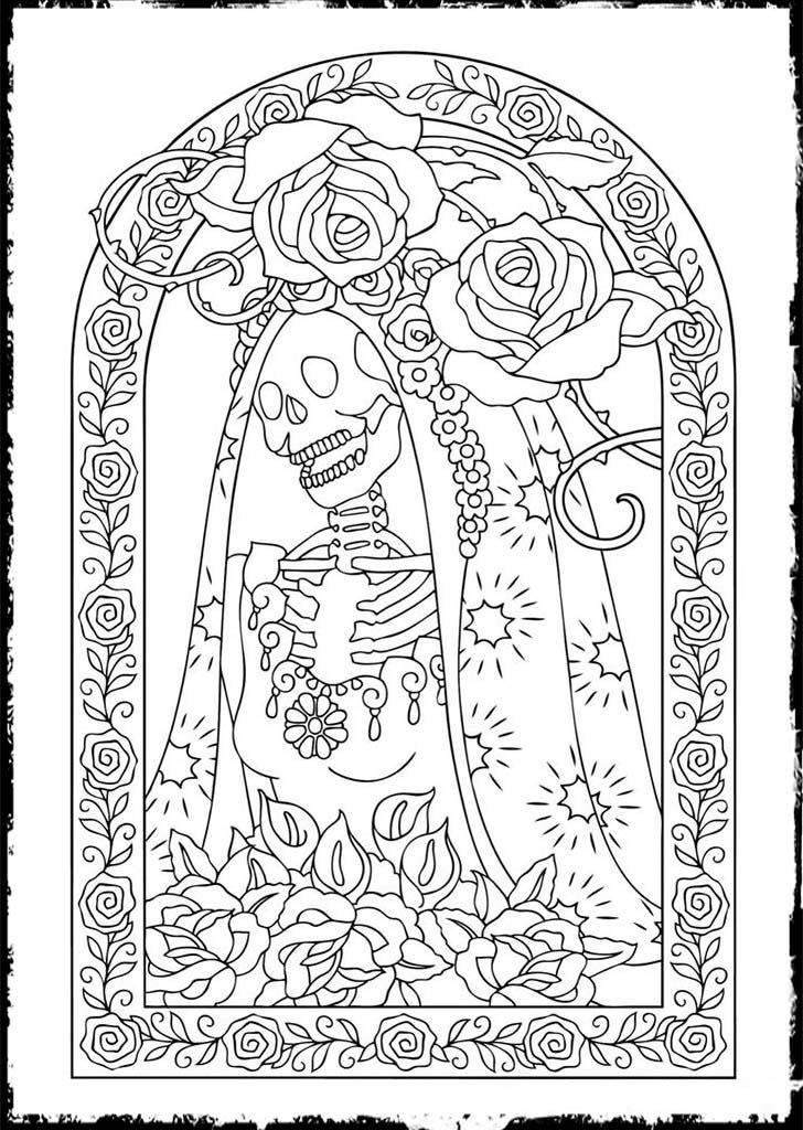 day of the dead printable coloring pages free printable day of the dead coloring pages best the pages printable coloring of day dead