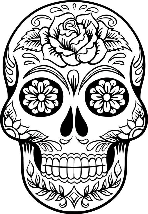 day of the dead printable coloring pages items similar to day of the dead girl coloring page the dead coloring of day printable pages