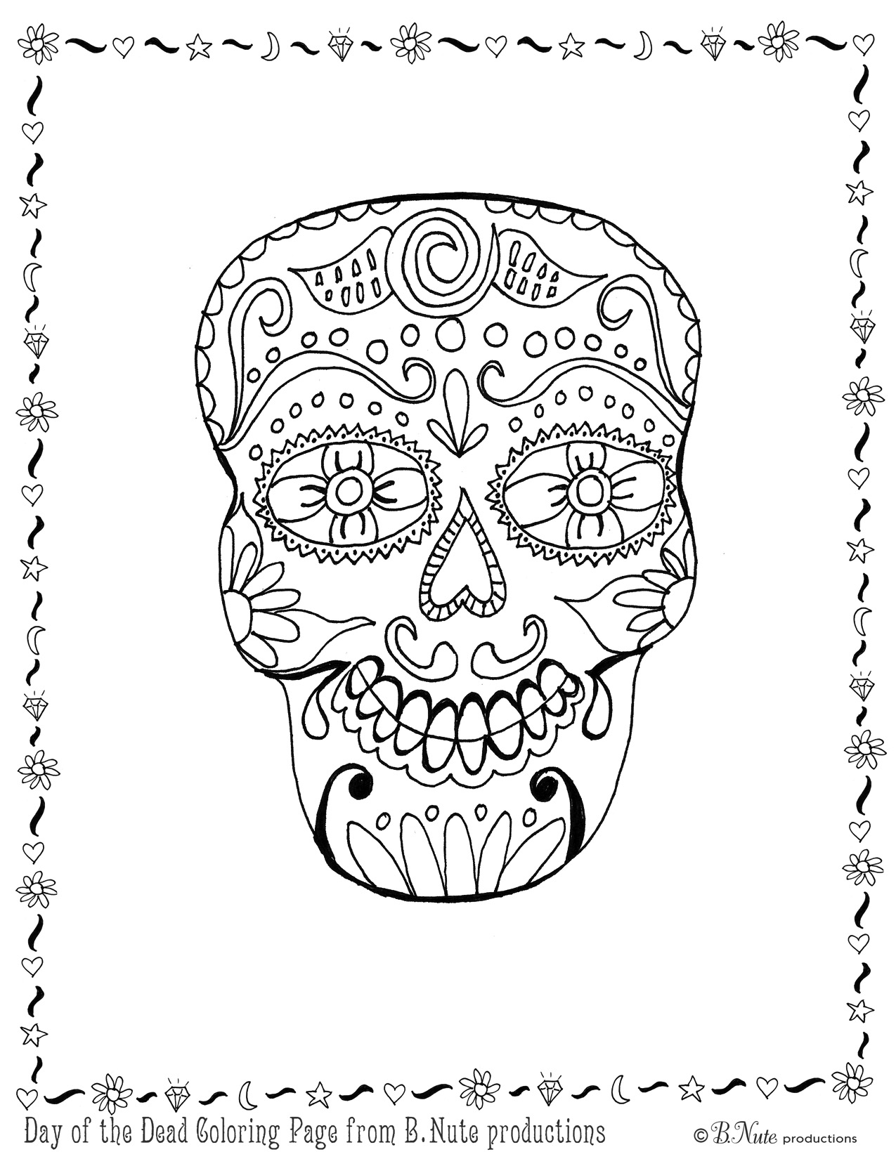 day of the dead printables bnute productions free printable day of the dead skull printables day of the dead