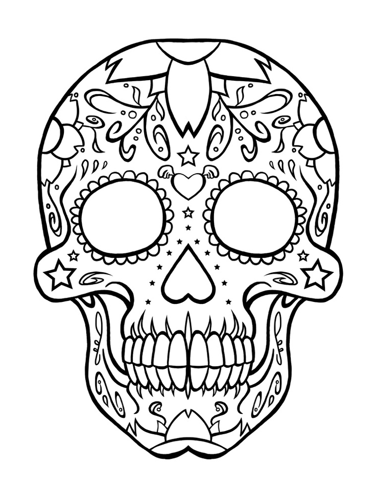 day of the dead printables day of the dead sugar skull coloring page free printable dead of printables day the