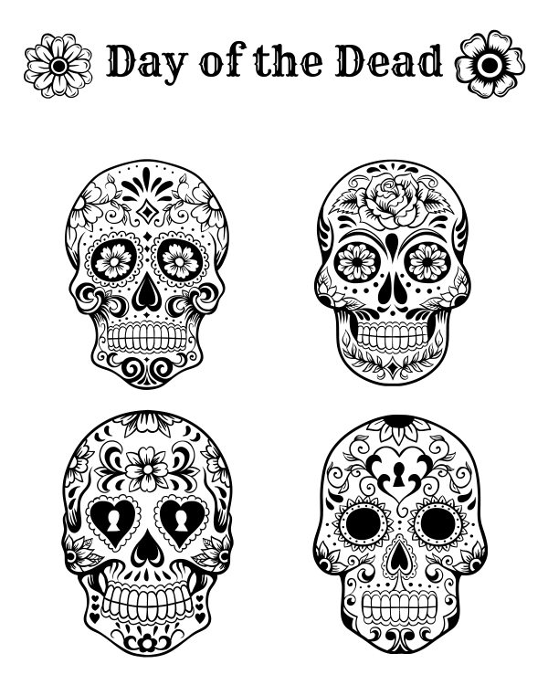 day of the dead printables free printable day of the dead coloring page mama likes this dead day of printables the