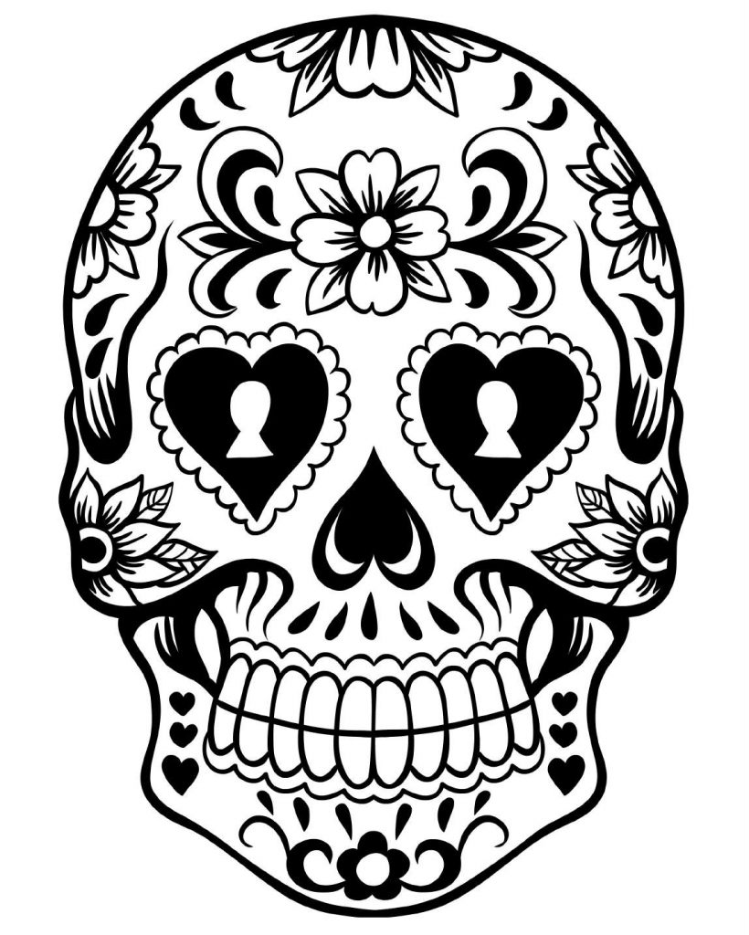 day of the dead printables free printable day of the dead coloring pages best day of printables the dead