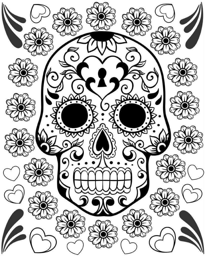 day of the dead printables free printable day of the dead coloring pages best the dead day of printables 1 1