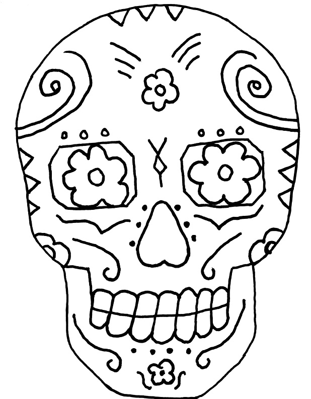 day of the dead printables free printable day of the dead coloring pages best the of day dead printables