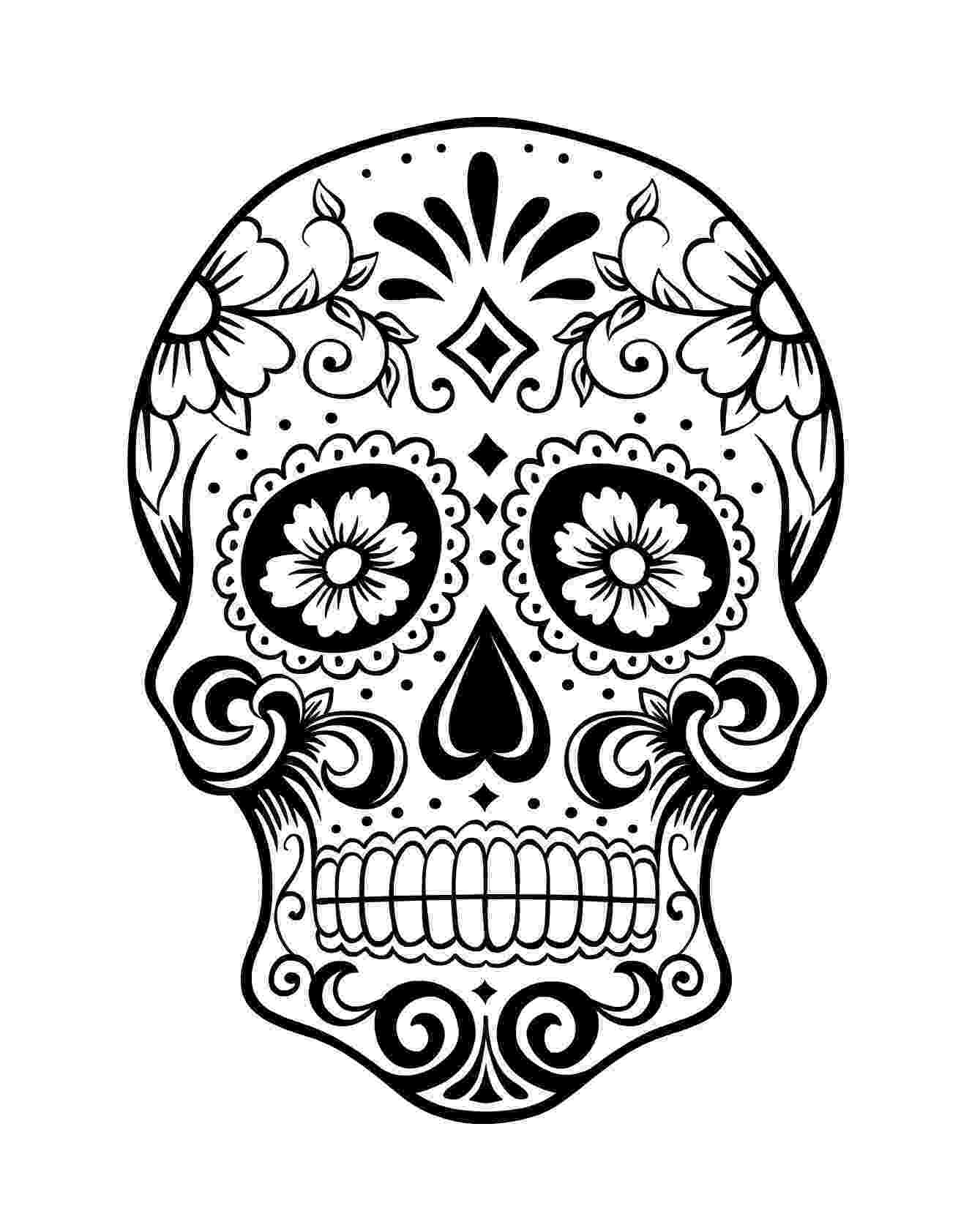 day of the dead template day of the dead skull coloring page 1 because i can of dead template day the