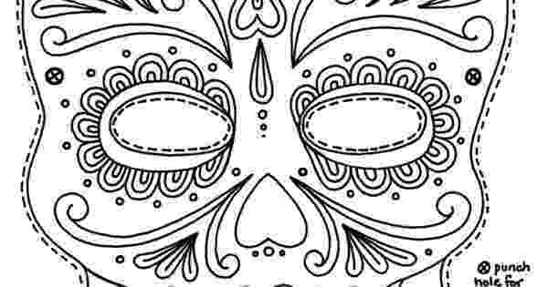day of the dead template free printable sugar skull day of the dead mask free free template day dead the of