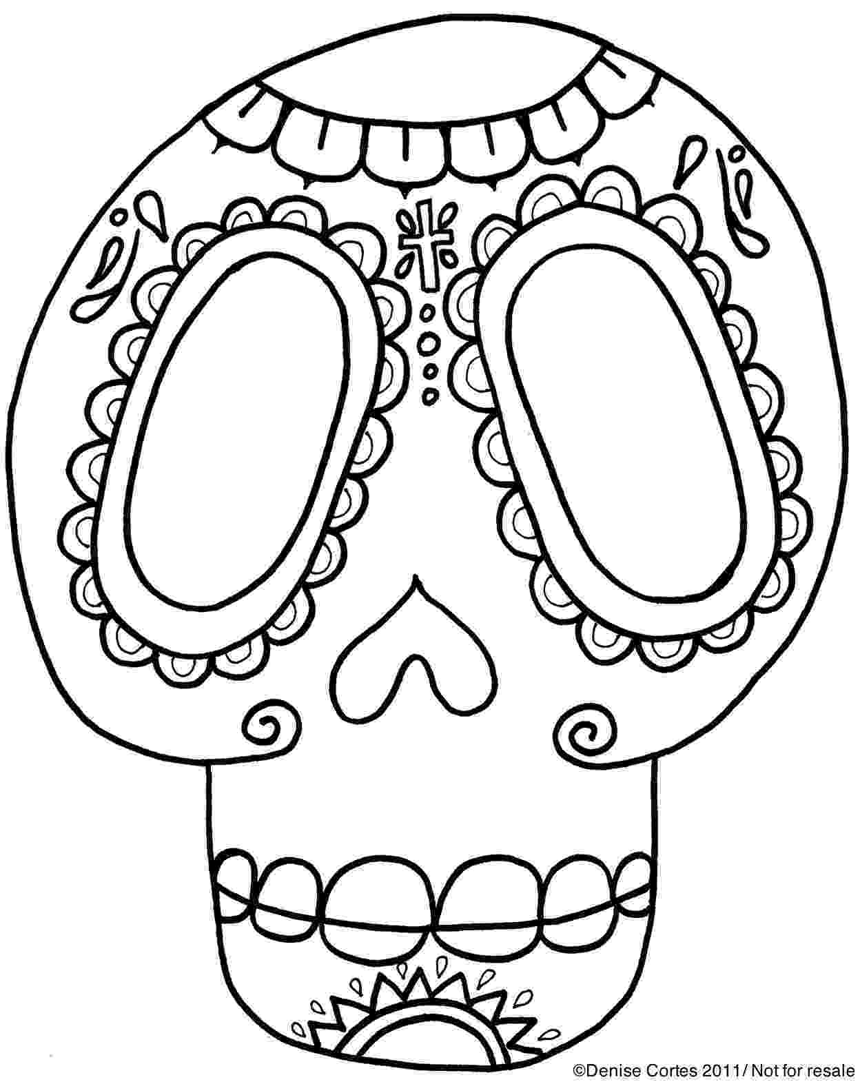 day of the dead template modern art 4 kids of day the template dead