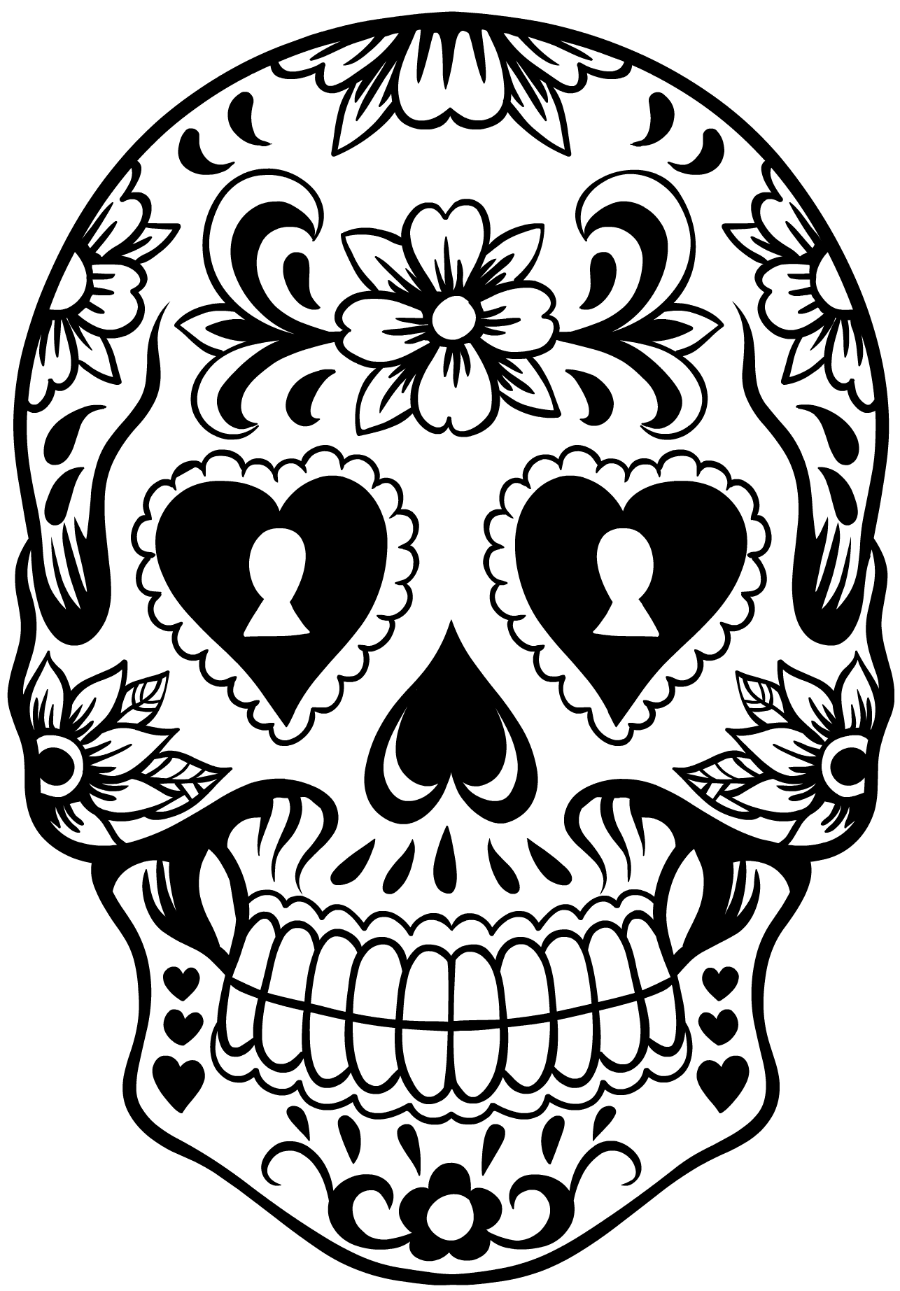 day of the dead template sugar skull wreath of template dead day the