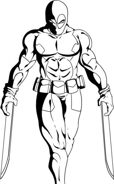 deadpool free deadpool coloring pages free deadpool