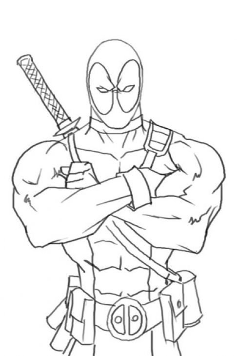 deadpool free deadpool coloring pages free deadpool 1 1