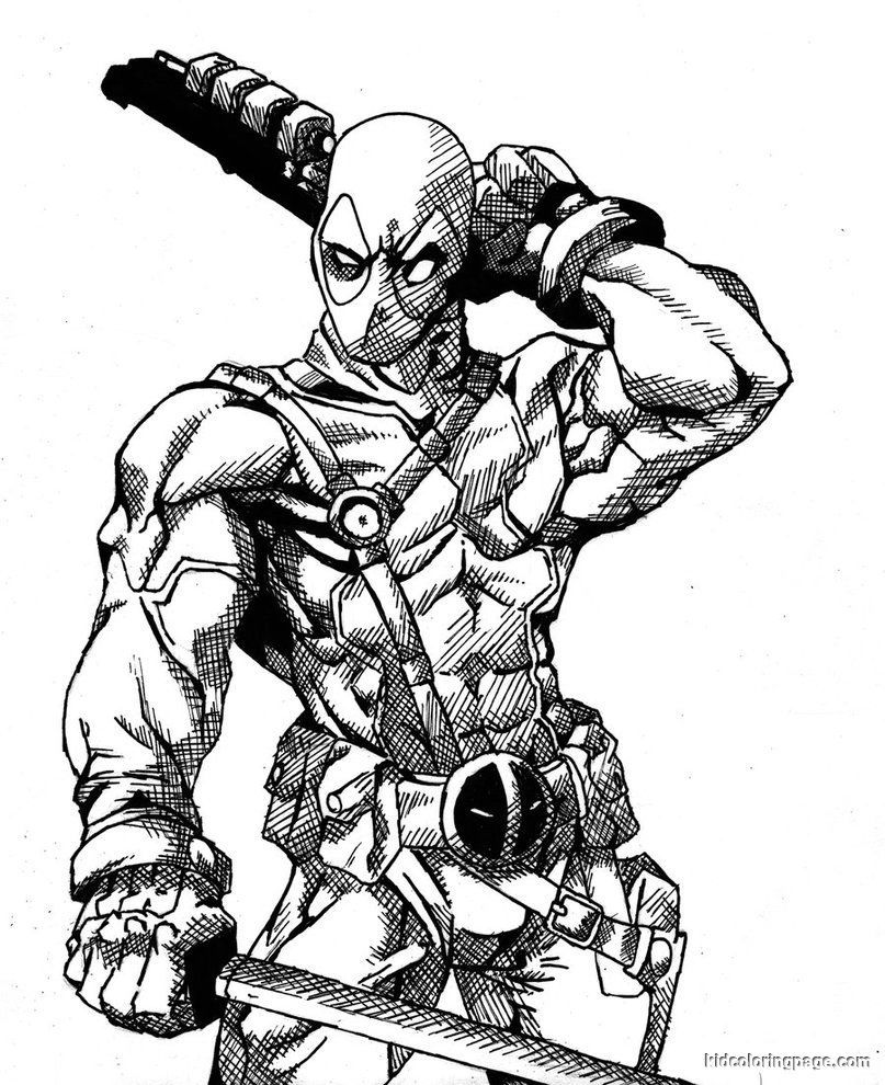 deadpool free deadpool coloring pages to download and print for free free deadpool