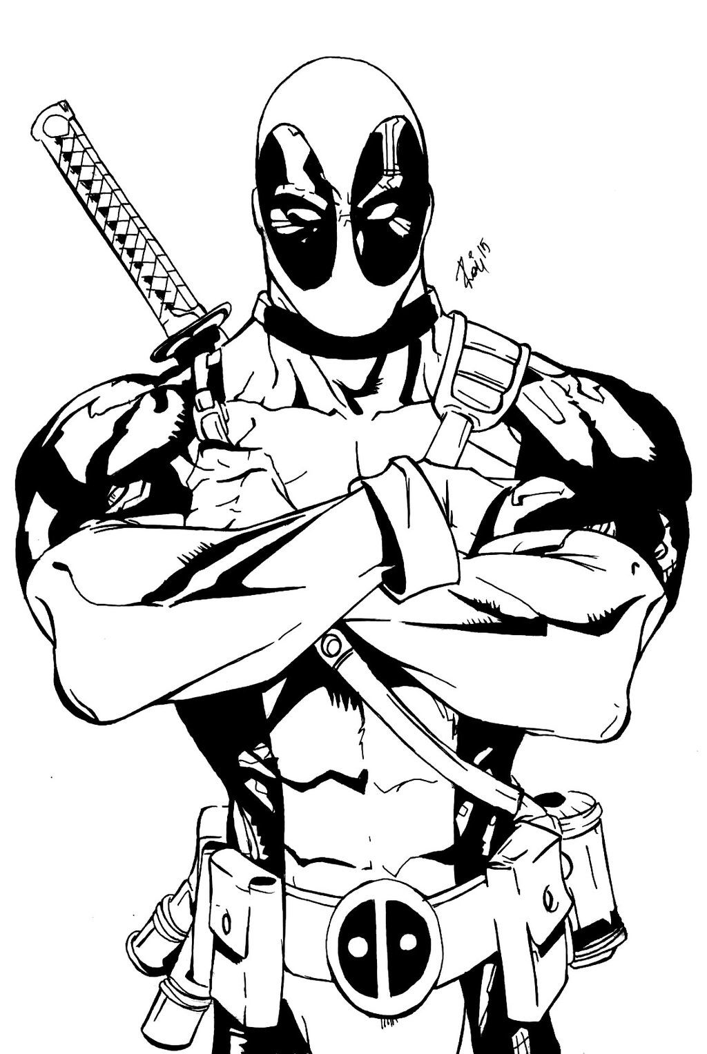 deadpool free free printable deadpool coloring pages for kids avengers free deadpool